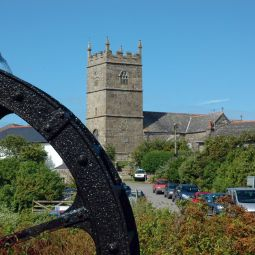 Zennor Church and Water Wheel