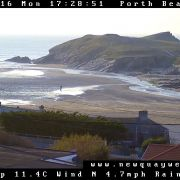 Porth Beach Newquay webcam
