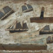 Alfred Wallis painting - Newlyn