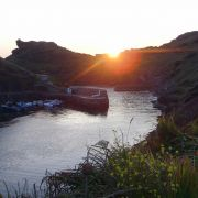 Boscastle Harbour Sunset