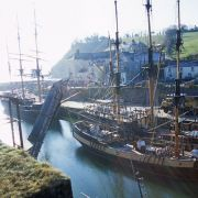 Sailing Ships in Charlestown Harbour