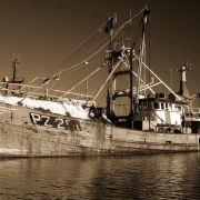 Trawler lying in Newlyn Harbour