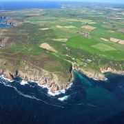 Portgwarra and St Levan from the air