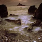 Evening seas in Mount's Bay - St Michael's Mount