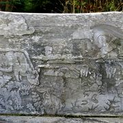 Carved bench - St Agnes, Scilly