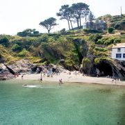 Polperro beach from the pier