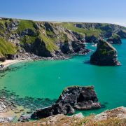 Bedruthan Steps - from the other end