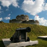 St Mawes Castle and Cannon