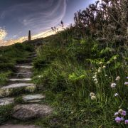 Steps up to Cape Cornwall