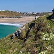 Crantock beach from West Pentire Point