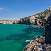 Droskyn Point cliffs - Perranporth