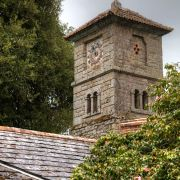 Enys House clock tower