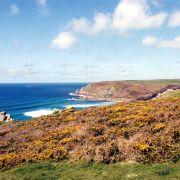 Gwenver beach and cliffs
