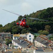 Sea King over Newlyn