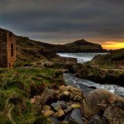 Cape Cornwall from Kenidjack Valley
