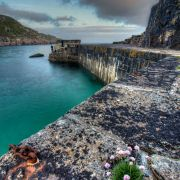 Lamorna's Broken Harbour Wall