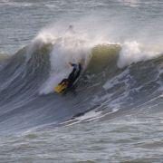 Porthleven Pier Wave