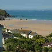 Mawgan Porth beach view
