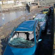 Sea Damaged Cars - Mousehole