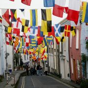 Hanging Flags in Padstow
