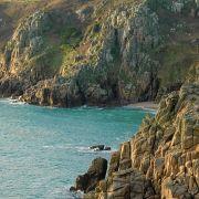 Pedn Vounder - High tide cliffs