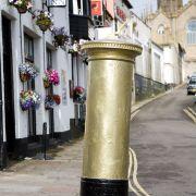Golden Post Box - Olympics 2012