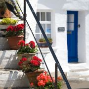 Polperro - flowers, steps and cottage