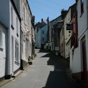 Looking up Fore Street in Polruan