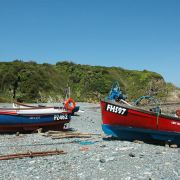 Boats on Porthallow Beach