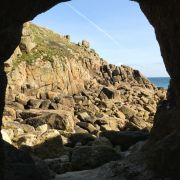 View from the tunnel - Porthgwarra