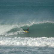 Bodyboarder Pulls in at Porthtowan