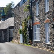 Portloe cottages and church