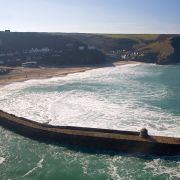 Portreath Harbour Wall and Beach