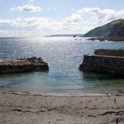 View out of Portwrinkle Harbour