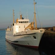 Scillonian leaving Penzance