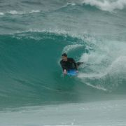Bodyboarder Pulls in at Sennen