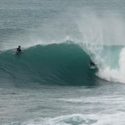 Bodyboarder Barrelled at Porthleven
