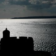 St Mawes Castle Silhoutte