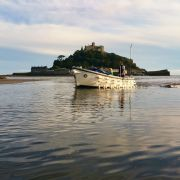St Michael's Mount ferry boat retuning