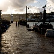 Walking on Smeaton's Pier - St Ives