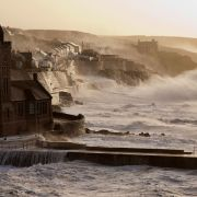 Porthleven Winter Storm video