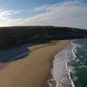 Sennen beach from the air video
