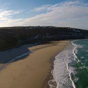 Sennen beach from the air video