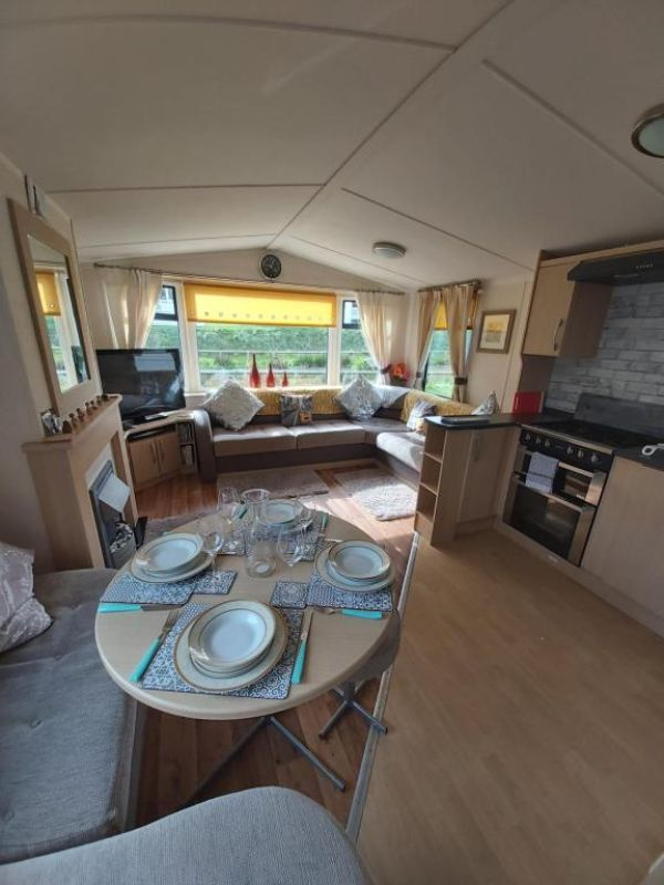 Caravan on the Devon\Cornwall border