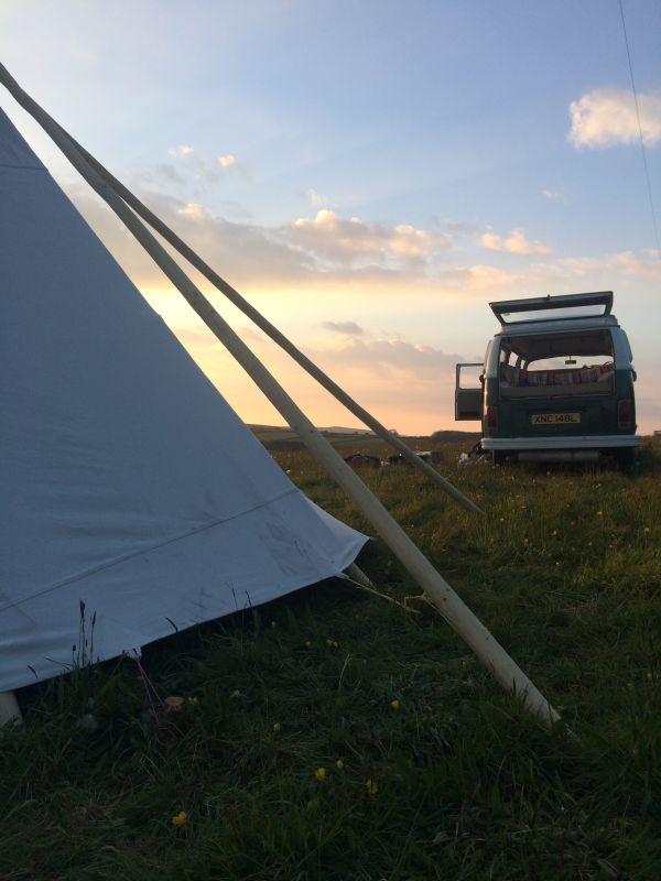 Wild camping at Mena Farm