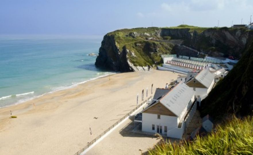 Tolcarne beach apartments and shacks