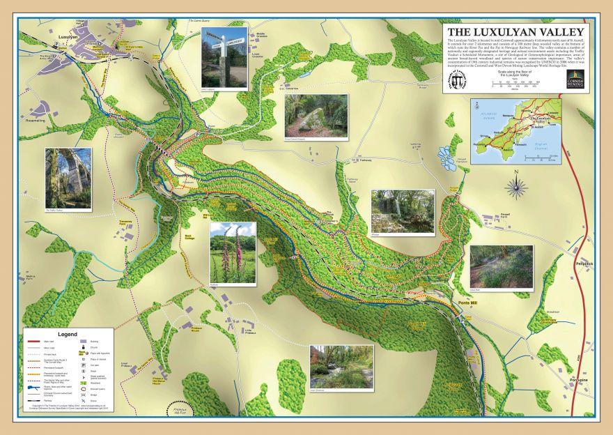 Luxulyan Valley map