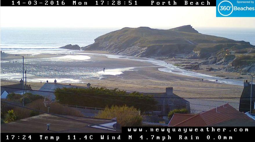 Porth Beach Newquay webcam
