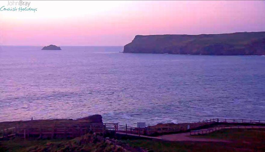 Polzeath webcam sunset