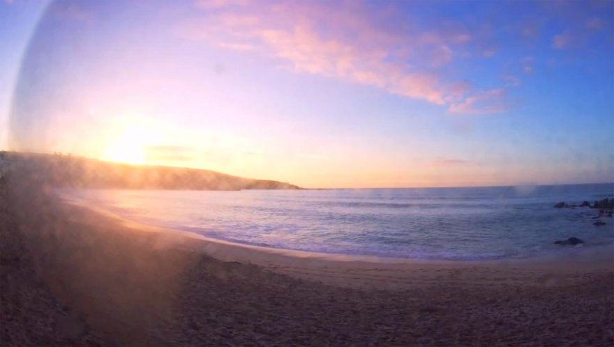 Porthmeor beach webcam - sunset